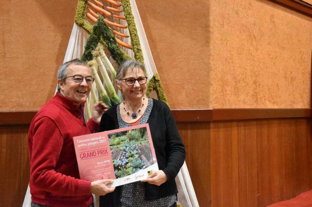 Denis et Christine, Grand Prix du Concours National des Jardins potagers 2017