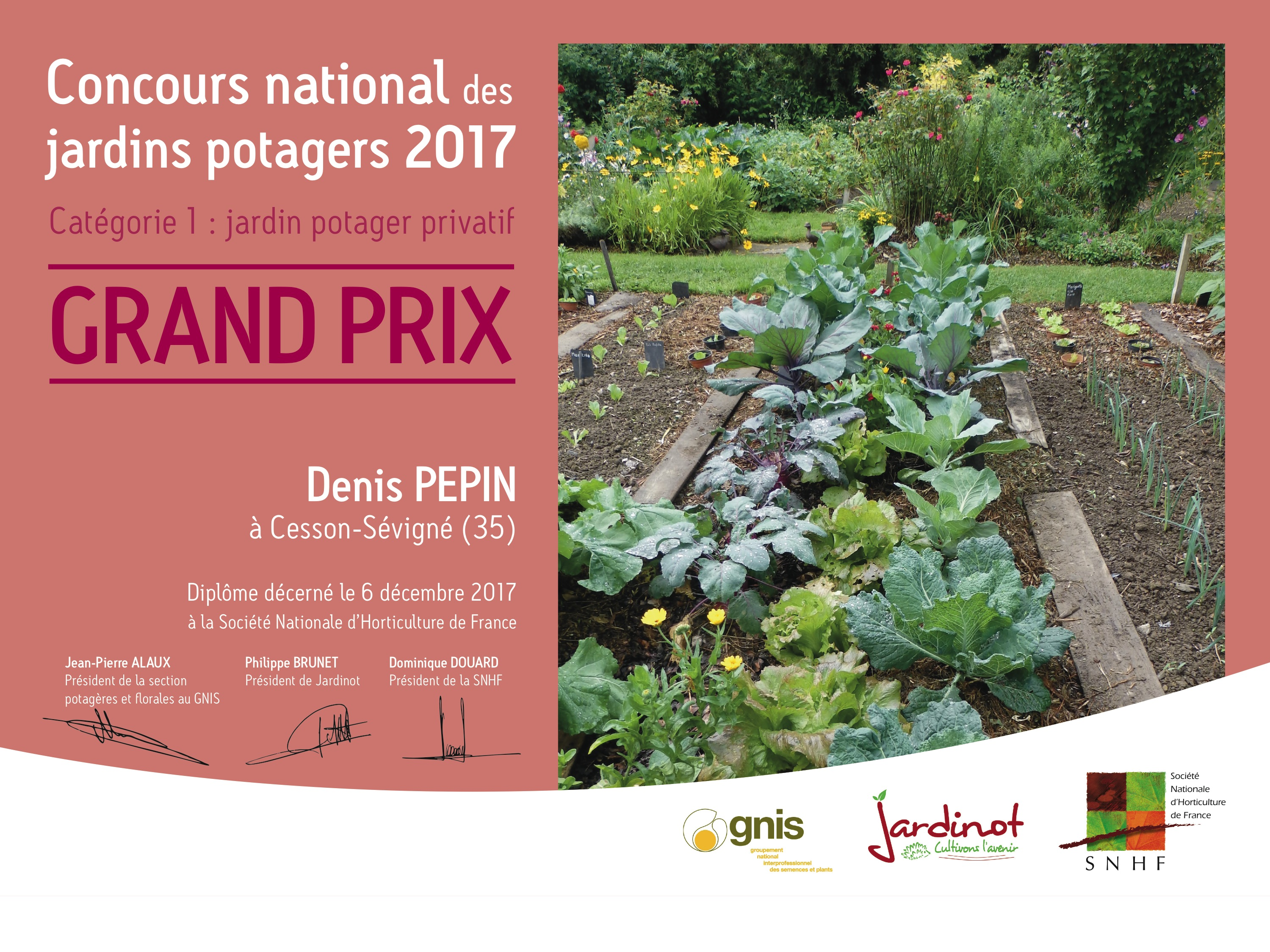 Denis et Christine Pépin Grand Prix du Concours National des Jardins Potagers 2018