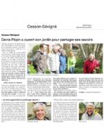 Stages jardin des pépins, Ouest france du 26 mars 2014